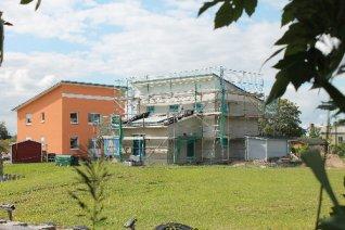 Das zweite Hafenhaus auf Koesters Eck steht bereits im Rohbau. Und es gibt einen weiteren Bauinteressenten für dieses Areal.